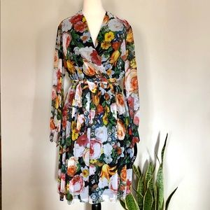 LESLIE FAY Floral Dress